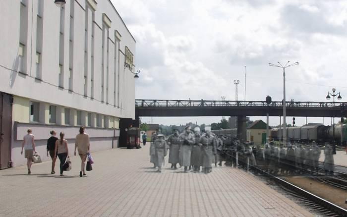 витебск, фотопроекция, император