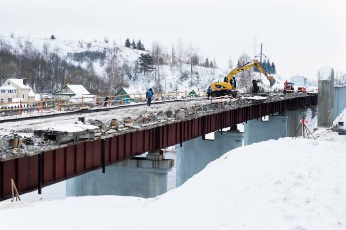 реконструкция старого моста в Рубе