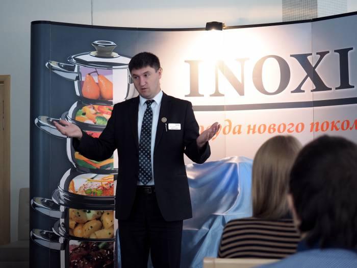 презентация посуды Inoxia