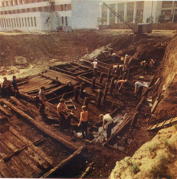 Раскопки в Витебске в 1970-х годах. Фото evitebsk.com