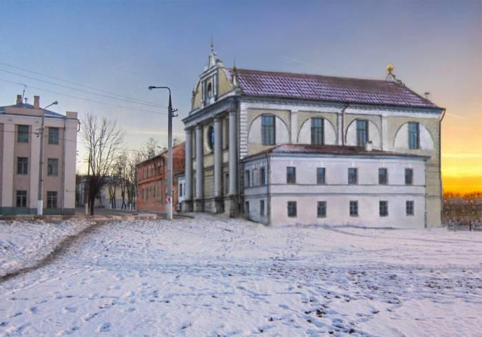 Главная хоральная синагога. Фотопроекция Виктора Борисенкова
