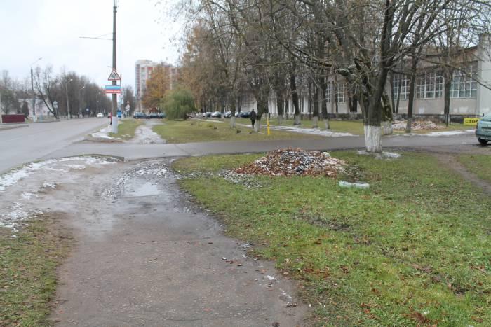 тротуар, пешеходы, витебск