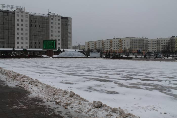 каток, зима, витебск