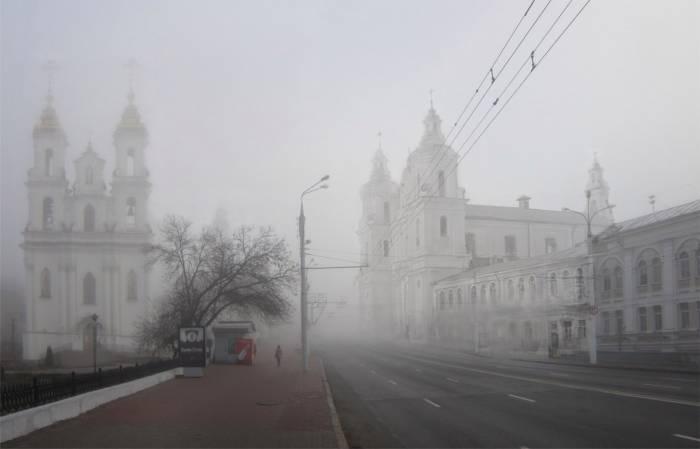 Костел святого Антония. Фотопроекция Виктора Борисенкова