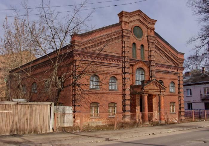 Большая Любавичская синагога. Фотопроекция Виктора Борисенкова
