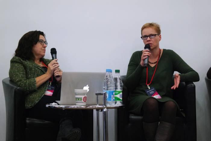 Юлия Слуцкая и Марина Золотова. Фото Анастасии Вереск