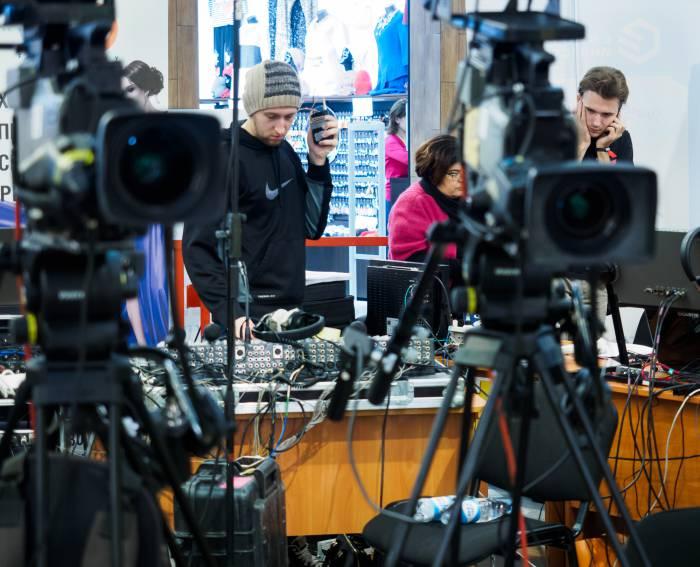 Съемка масштабного телепроекта - розыгрыш призов от Евроопта. Фото Светланы Васильевой
