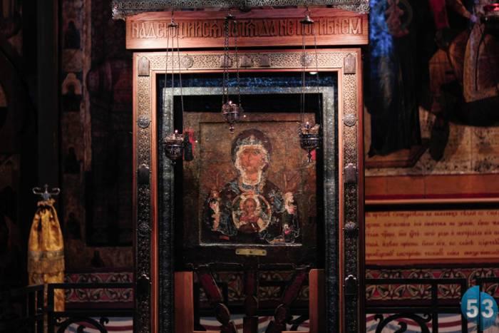 """Икона """"Знамение"""" - главная святыня новгородской земли. Фото 53news.ru"""