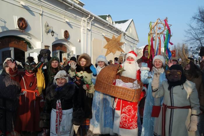 Колядовщики в Задвинье. Фото Анастасии Вереск