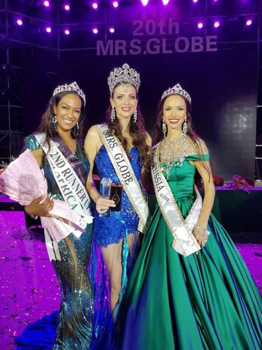 mrs Globe 2017 - Беларусь, 1-я вице миссис Россия, 2-ч вице миссис Африка. ФОТО: FACEBOOK