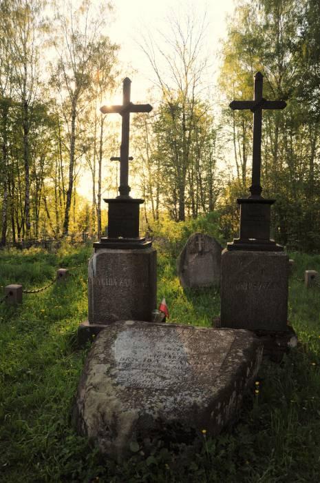 Могилы Томаша и Бригиды в Смолянах. Фото Ольга Витебская