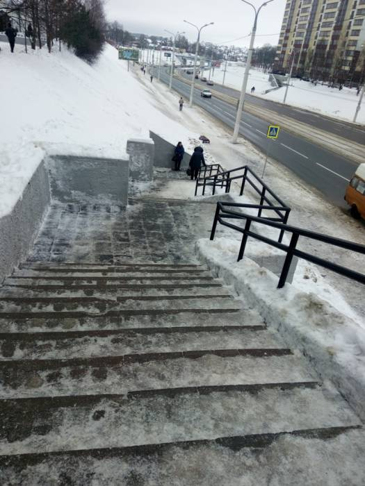 витебск, лестницы, снег, гололед