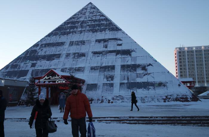 Витебская пирамида тоже замерзла. Фото Анастасии Вереск