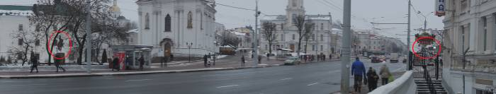 Расстояние от памятника князю Ольгерду до билборда. Фото Анастасии Вереск