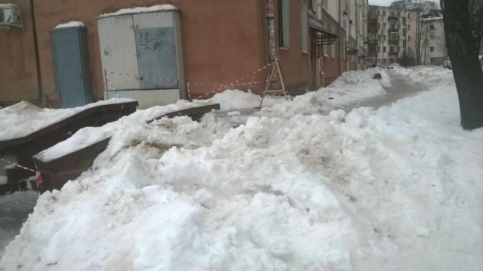 Дорога через снежную гору. Фото Анастасии Вереск