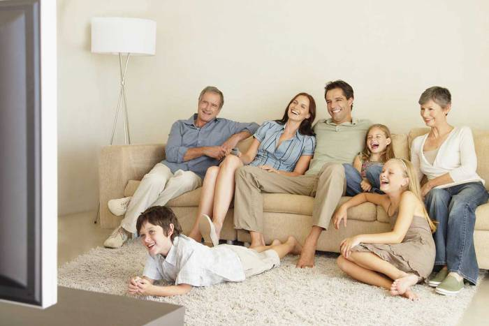 семья телевизор