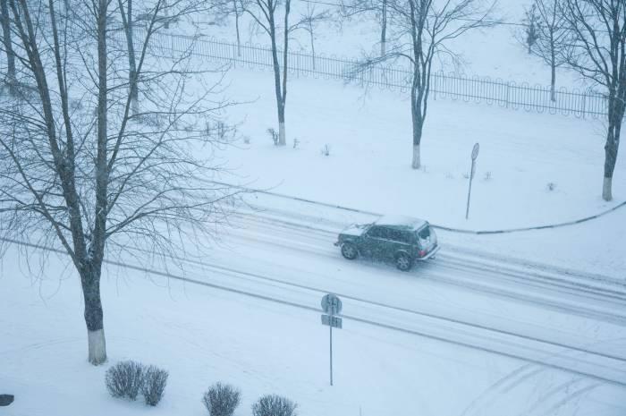 Видимость на дороге в такую погоду оставляет желать лучшего. Фото Анастасии Вереск