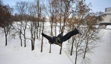 Решиться на прыжок не просто.