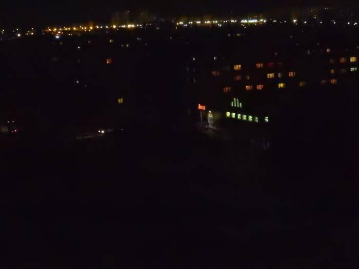 город не горят фонари