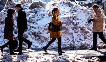 зима люди