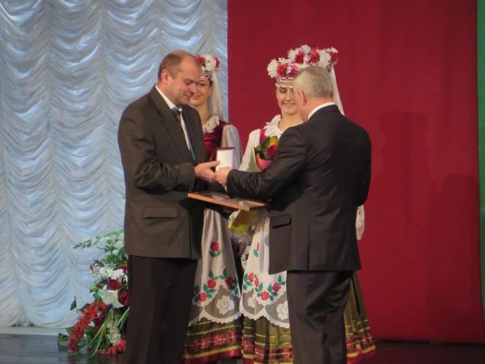 Вручение награды Амвросьеву С.А. Фото: Аля Покровская