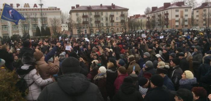Бобруйск по численности акции догнал Витебск. Фото: twitter.com/viasna96