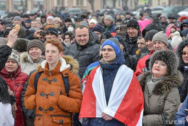 Протестующие в Бобруйске. Фото: tut.by