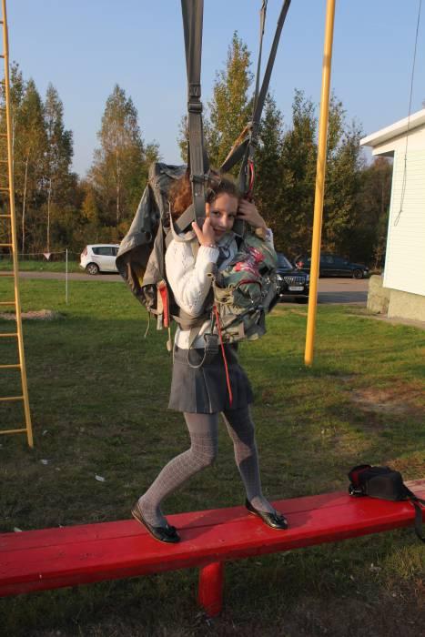 девочка парашют