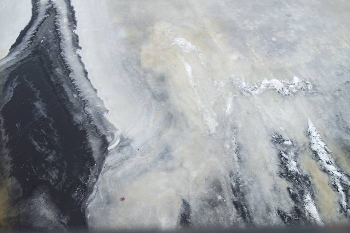 Лед на Двине. Фото Анастасии Вереск