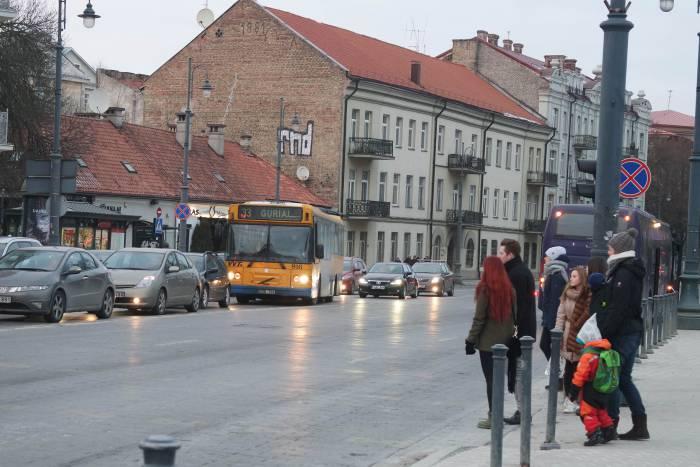 Общественный транспорт в Вильнюсе. Фото Анастасии Вереск