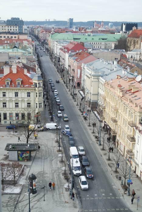 Один из центральных проспектов столицы Литвы. Фото Анастасии Вереск