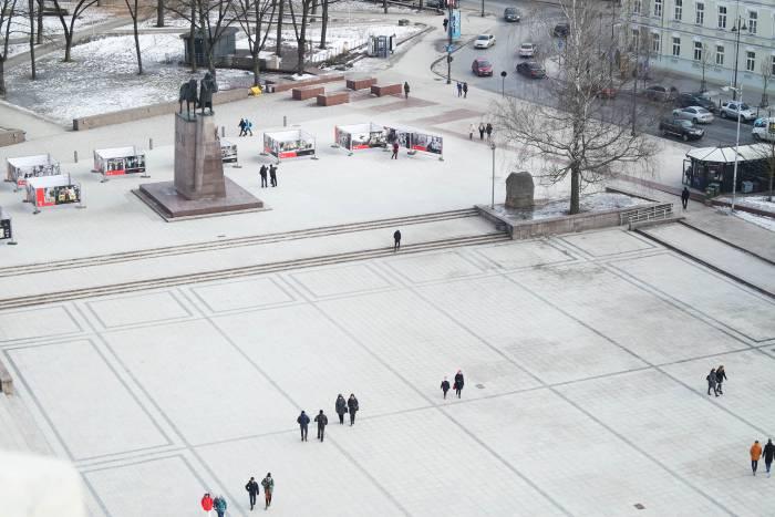 Кафедральная площадь в Вильнюсе. Фото Анастасии Вереск