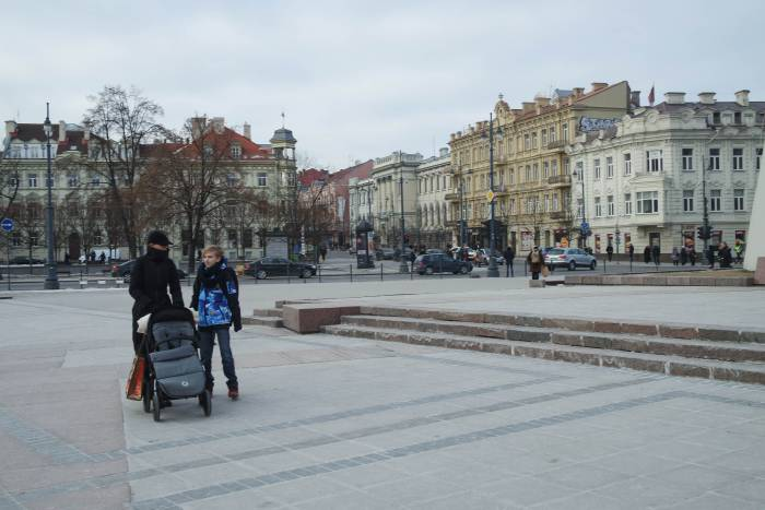 В центре Вильнюса. Фото Анастасии Вереск