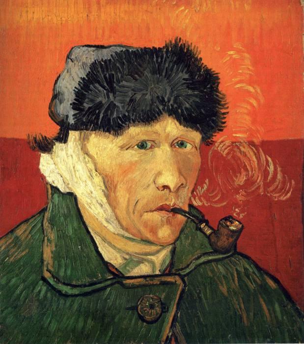 Винсент Ван Гог «Автопортрет с отрезанным ухом», 1888 год. Фото: ptiza.org
