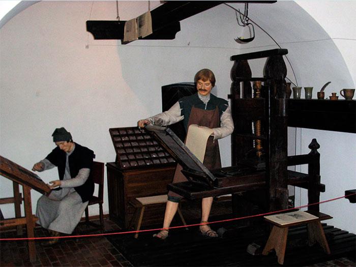 Часть экспозиции Музея белорусского книгопечатания в Полоцке. Фото belchas.by