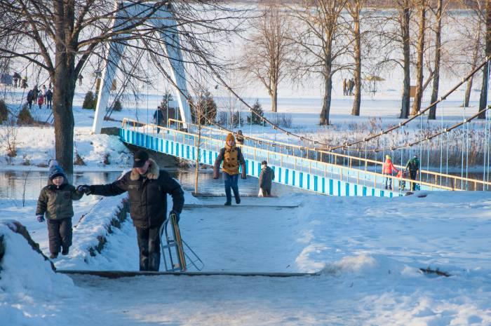 Февраль в Новолукомле. Фото Анастасии Вереск