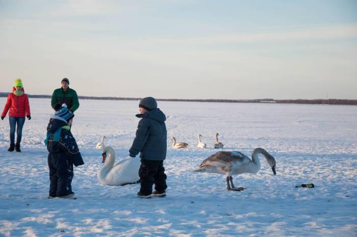 Как только становится чуть теплее, люди подтягиваются к воде. Фото Анастасии Вереск