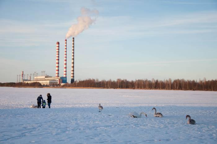 Лукомльское озеро зимой. Фото Анастасии Вереск