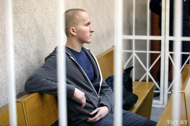 Владислав Казакевич на суде. Фото: Вадим Замировский, TUT.BY