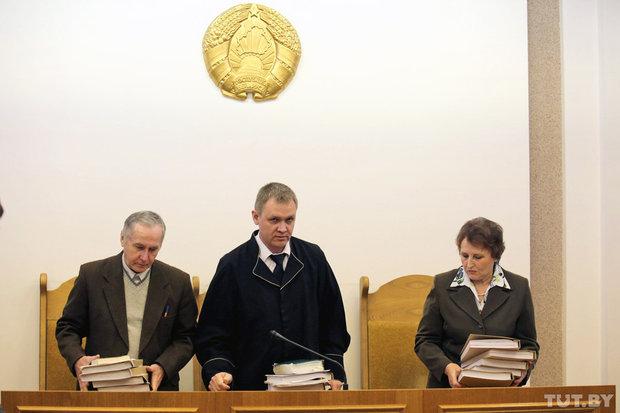 На судебном заседании. Фото: Вадим Замировский, TUT.BY