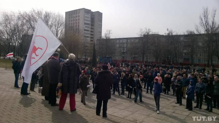 Митинг в Гомеле. Фото: tut.by
