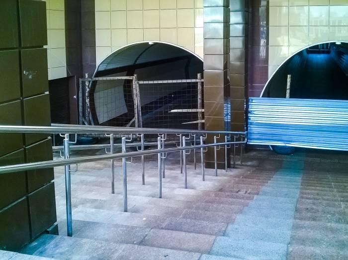подземный переход закрыт