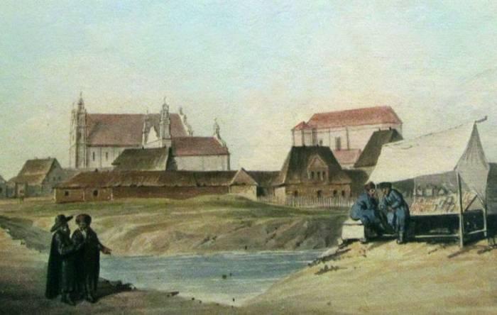 Акварель Юзефа Пешки, около 1800 года. Фото evitebsk.com