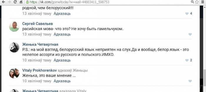 Оскорбительный комментарий Евгении Четвертной. Фото из социальных сетей