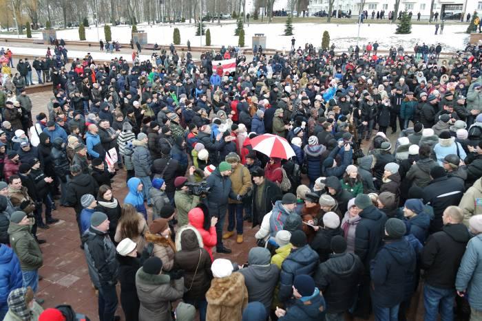 "Витебские ""тунеядцы"" в феврале 2017. Фото Ольга Витебская"