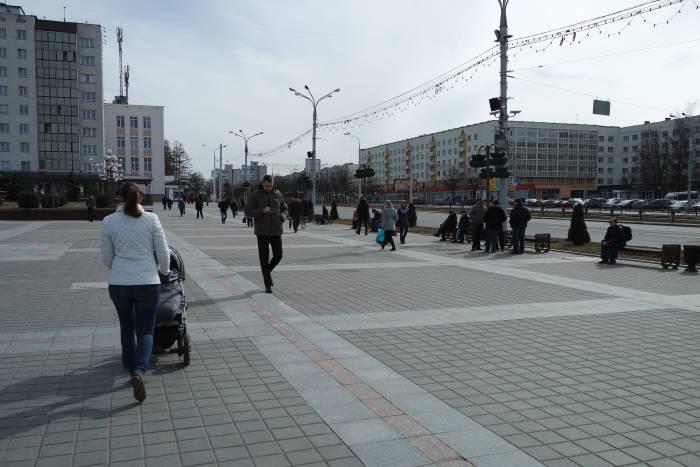 25 марта на площади победы в Витебске. Фото Анастасии Вереск