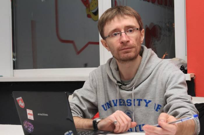 Гомельский активист Игорь Случак. Фото: Лариса Щирякова