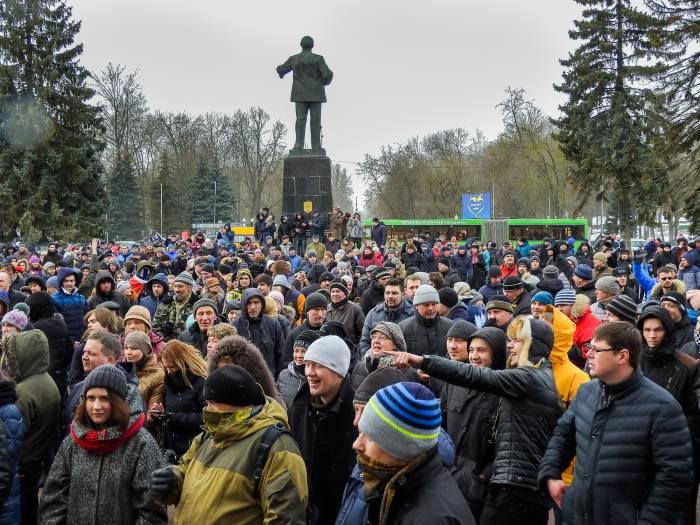 Акция протеста в Витебске. Фото Светланы Васильевой