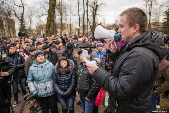 Марш нетунеядцев в Гродно. Фото: svaboda.org