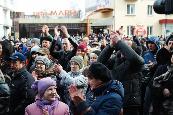 Люди активно поддерживали выступающих. Фото Анастасии Вереск